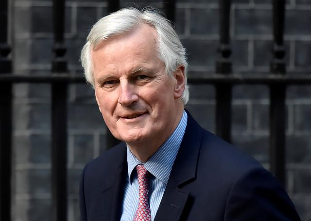 FILE PHOTO: European Chief Negotiator for Brexit Michel Barnier arrives at Downing Street in London, Britain, April 26, 2017.   REUTERS/Hannah McKay/File Photo