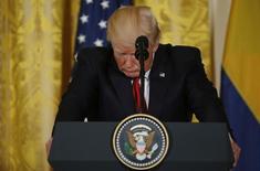 Trump em coletiva na Casa Branca, Washington  18/5/2017 REUTERS/Kevin Lamarque