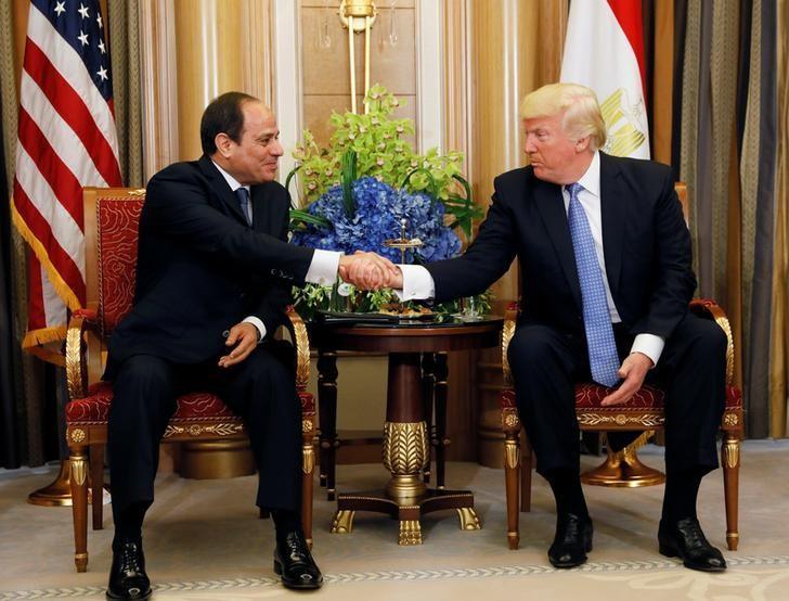 U.S. President Donald Trump meets with Egyptian President Abdel Fattah al-Sisi in Riyadh, Saudi Arabia, May 21, 2017. REUTERS/Jonathan Ernst