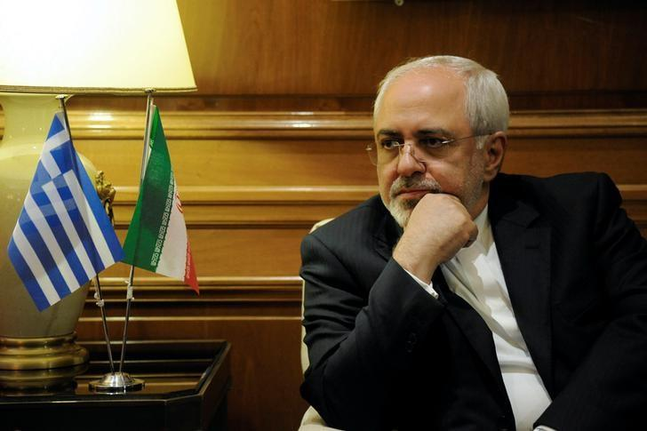 Iranian Foreign Minister Mohammad Javad Zarif meets with Greek Prime Minister Alexis Tsipras (not pictured) at his office at the Maximos Mansion in Athens, Greece, April 23, 2017. REUTERS/Michalis Karagiannis/Files