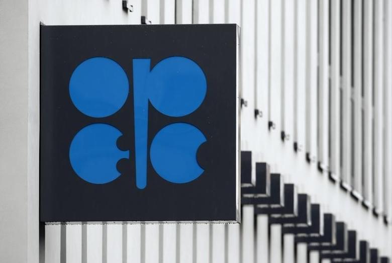 资料图片:2010年3月,维也纳,石油输出国组织(OPEC)总部大楼外墙上的组织标识。REUTERS/Heinz-Peter Bader