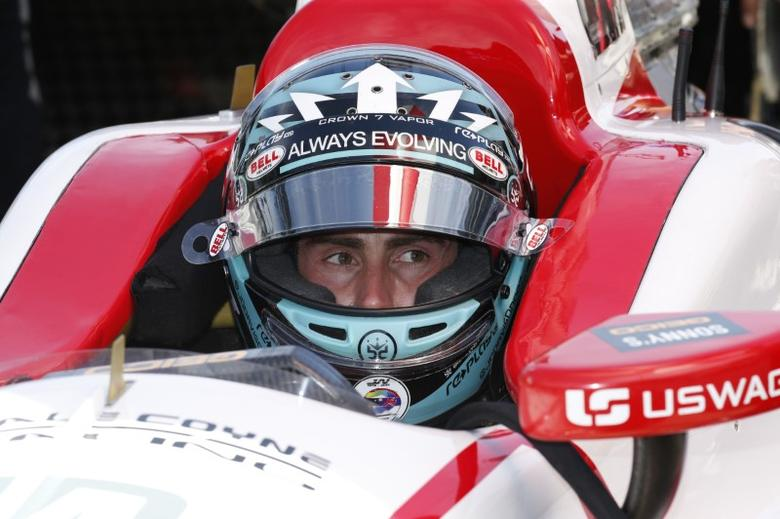 May 22, 2017; Indianapolis, IN, USA; Verizon IndyCar Series driver James Davison who is replacing injured driver Sebastien Bourdais sits in his car during practice for the 101st Running of the Indianapolis 500 at Indianapolis Motor Speedway. Mandatory Credit: Brian Spurlock-USA TODAY Sports