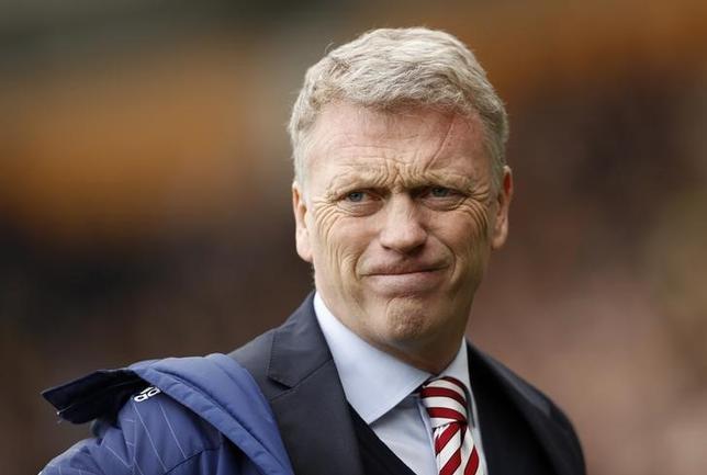 5月22日、サッカーのイングランド・プレミアリーグ、降格が決まったサンダーランドは、デービッド・モイズ監督(写真)の辞任を発表した。英ハルで6日撮影(2017年 ロイター)