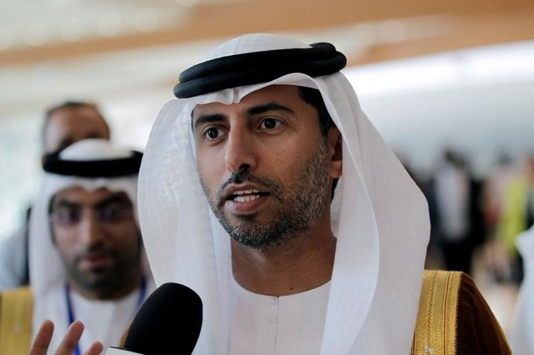 UAE Energy Minister Suhail bin Mohammed al-Mazroui talks to reporters during the 15th International Energy Forum Ministerial (IEF15) in Algiers, Algeria September 28, 2016. REUTERS/Ramzi Boudina