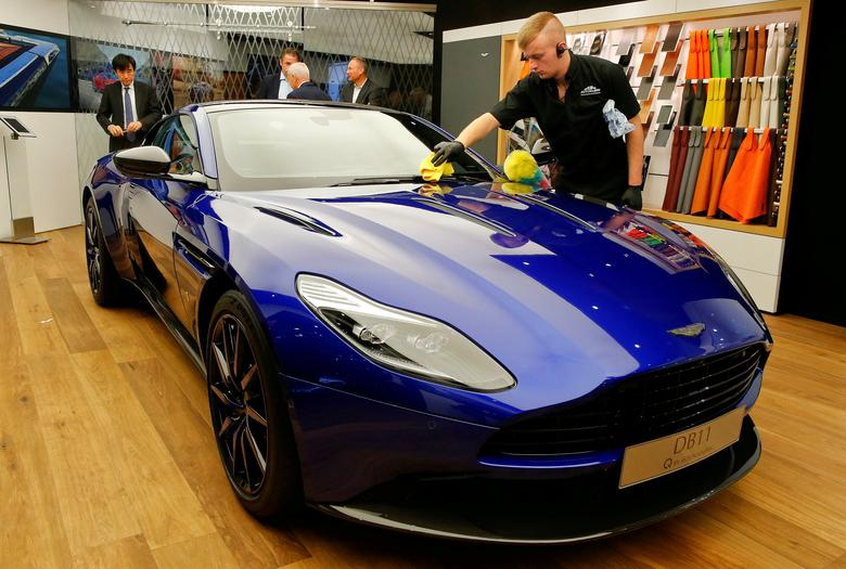 FILE PHOTO: An Aston Martin DB11 car is seen during the 87th International Motor Show at Palexpo in Geneva, Switzerland, March 8, 2017. REUTERS/Arnd Wiegmann/File Photo