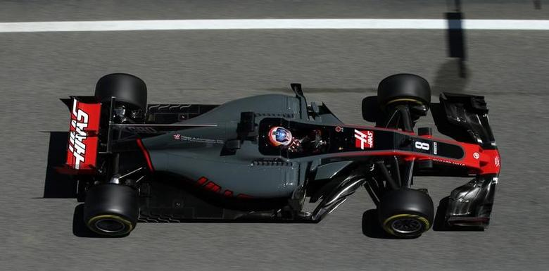 Formula One - F1 - Spanish Grand Prix - Barcelona-Catalunya racetrack, Montmelo Spain - 12/05/17 - Haas' Romain Grosjean in action during the second free practice. REUTERS/Albert Gea
