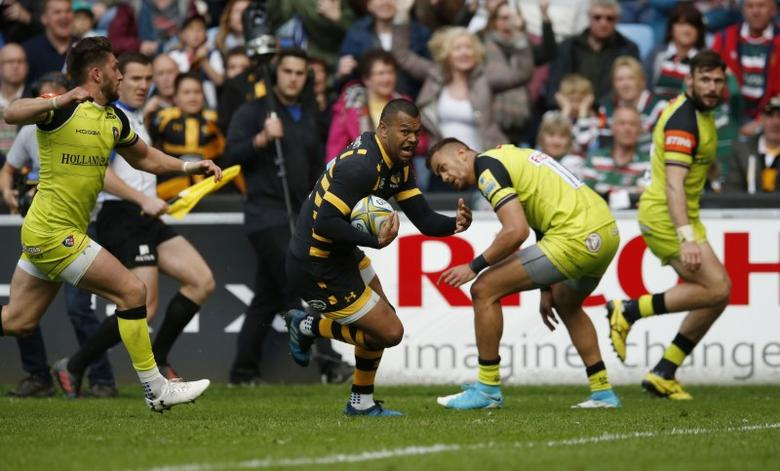 Britain Rugby Union - Wasps v Leicester Tigers - Aviva Premiership Semi Final - Ricoh Arena - 20/5/17 Wasps' Kurtley Beale runs in to score a try Mandatory Credit: Action Images / Andrew Boyers Livepic