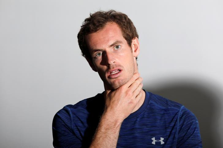 Andy Murray of Britain attends a promotional event for the upcoming French Open tennis tournament at the financial and business district of La Defense, west of Paris, France, May 24, 2017. REUTERS/Benoit Tessier