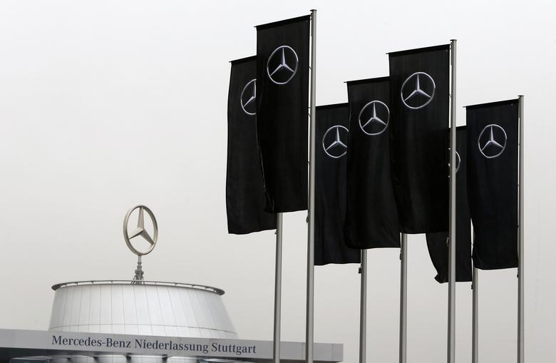 FILE PHOTO: The Mercedes dealership of the south-western German city of Stuttgart is pictured before the annual news conference of Daimler AG in Stuttgart, Germany, February 2, 2017.   REUTERS/Michaela Rehle/File Photo