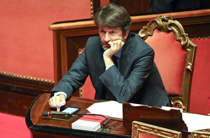 Italian Culture Minister Dario Franceschini looks on before a confidence vote at the Senate in Rome, Italy December 14, 2016. REUTERS/Alessandro Bianchi