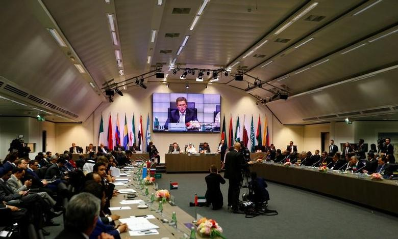 2017年5月25日,奥地利维也纳,石油输出国组织(OPEC)和俄罗斯牵头的非OPEC产油国会议。REUTERS/Leonhard Foeger