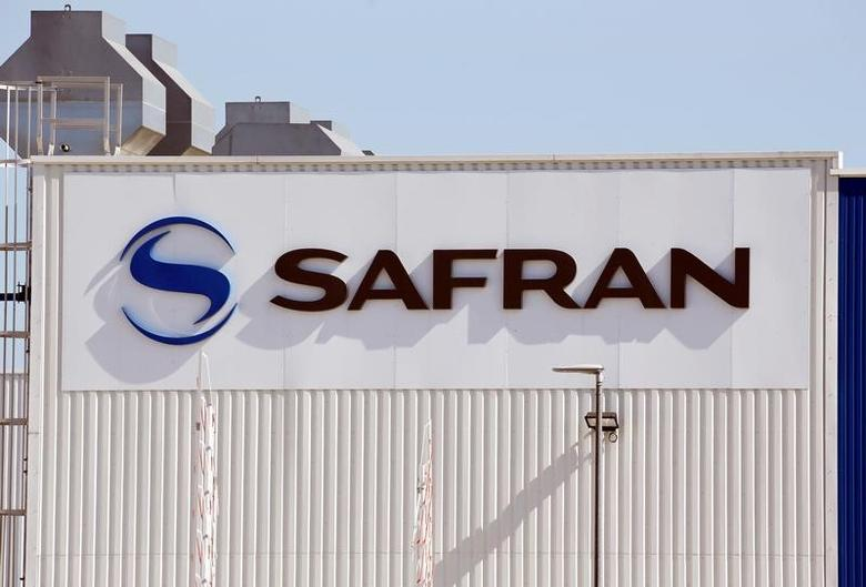 The logo of Safran Group is seen on the company's headquarters building in Toulouse, Southwestern France, April 18, 2017.  REUTERS/Regis Duvignau