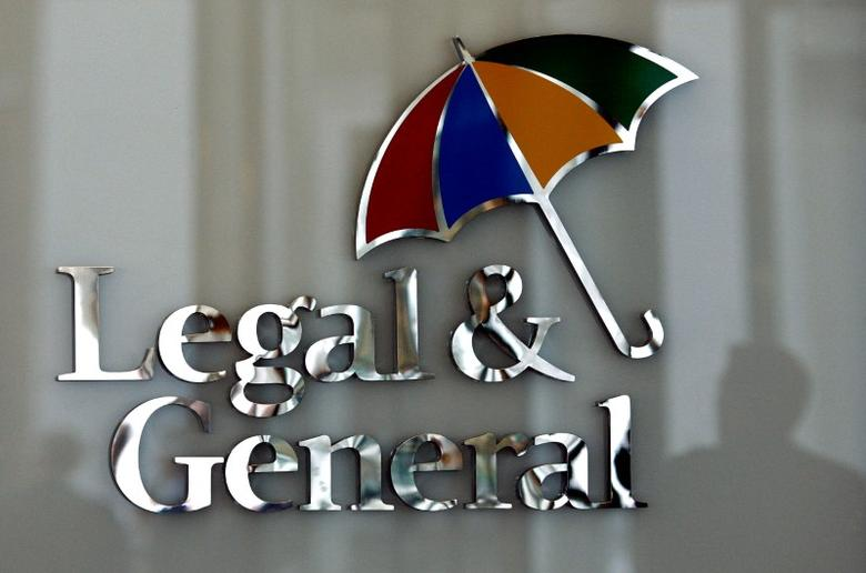 FILE PHOTO - The logo of Legal & General insurance company is seen at their office in central London, Britain, March 17, 2008. REUTERS/Alessia Pierdomenico/File Photo