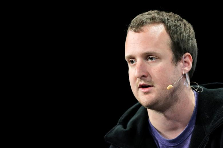 Ted Livingston, founder and CEO of Kik Messenger, speaks at the TechCrunch Disrupt event in Brooklyn borough of New York, U.S., May 11, 2016.  REUTERS/Brendan McDermid
