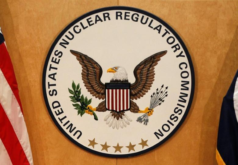 FILE PHOTO: A U.S. Nuclear Regulatory Commission sign is pictured at the headquarters building in Rockville, Maryland, U.S. on March 21, 2011. REUTERS/Larry Downing/File Photo