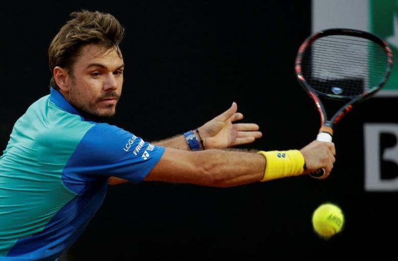 Tennis - ATP - Rome Open - Stan Wawrinka of Switzerland v Benoit Paire of France - Rome, Italy- 17/5/17- Wawrinka returns the ball. REUTERS/Max Rossi