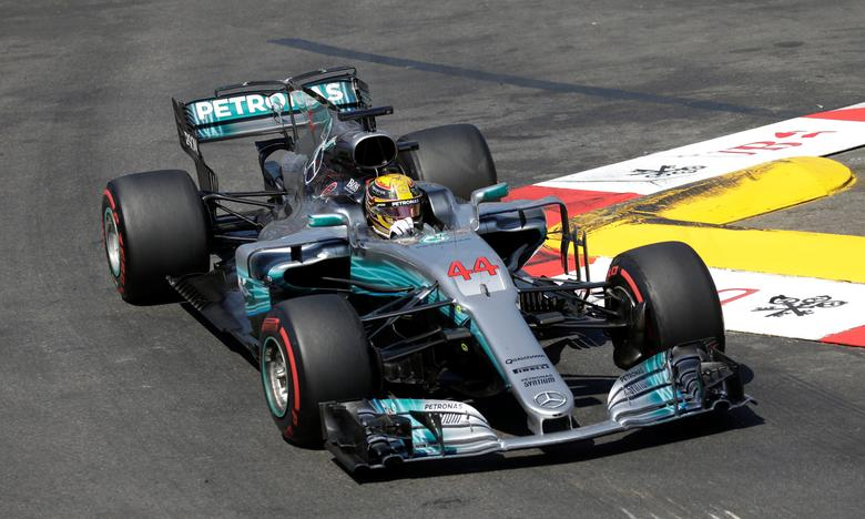 Formula One - F1 - Monaco Grand Prix 2017  - Circuit de Monaco, Monte Carlo  - 28/5/17Mercedes' Lewis Hamilton in action during the raceReuters / Max Rossi