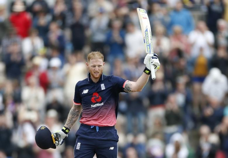 Britain Cricket - England v South Africa - Second One Day International - Ageas Bowl - 27/5/17 England's Ben Stokes celebrates after his century Action Images via Reuters / Matthew Childs Livepic