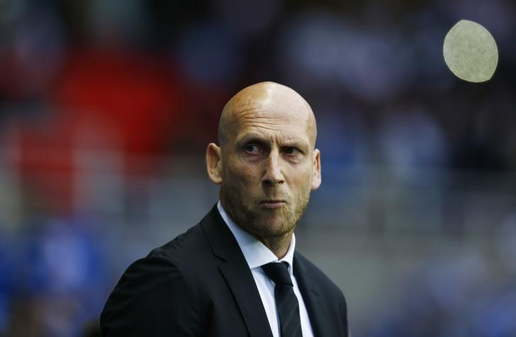 Britain Football Soccer - Reading v Fulham - Sky Bet Championship Play Off Semi Final Second Leg - The Madejski Stadium - 16/5/17 Reading manager Jaap Stam Action Images via Reuters / Peter Cziborra Livepic