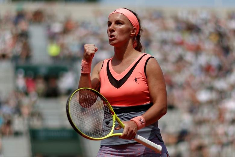 Tennis - French Open - Roland Garros, Paris, France - 28/5/17Russia's Svetlana Kuznetsova reacts during her first round match against USA's Christina McHaleReuters / Gonzalo Fuentes