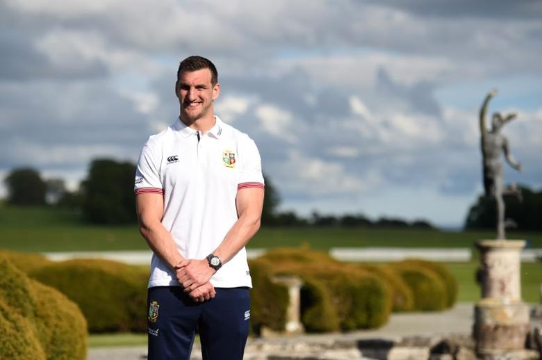 British & Irish Lions Training & Press Conference - Carton House, Co. Kildare, Ireland - 22/5/17 British & Irish Lions Sam Warburton poses for a photo Reuters  / Clodagh Kilcoyne Livepic