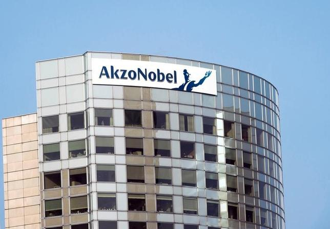 FILE PHOTO: A view of Akzo Nobel's headquarters in Amsterdam, February 6, 2014. REUTERS/Toussaint Kluiters/United Photos/File Photo