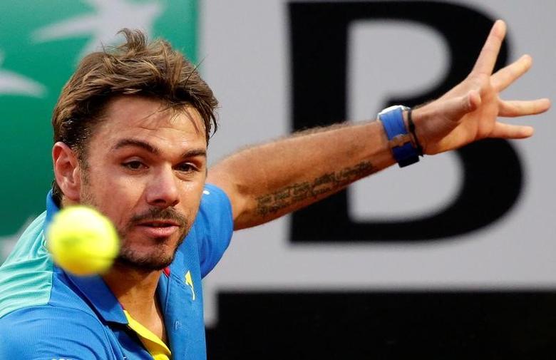 Tennis - ATP - Rome Open - Stan Wawrinka of Switzerland v Benoit Paire of France - Rome, Italy- 17/5/17- Wawrinka eyes the ball. REUTERS/Max Rossi/Files