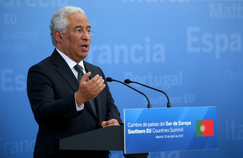 Portugal's Prime Minister Antonio Costa attends a news conference at the end of Southern EU Countries summit at El Pardo Palace in Madrid, Spain, April 10, 2017. REUTERS/Juan Medina