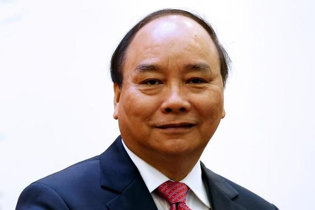 5月30日、訪米中のベトナムのフック首相(写真)は、滞在期間中に米国の財・サービスについて150億─170億ドル規模の契約に署名することを明らかにした。4月撮影(2017年 ロイター/Kham)