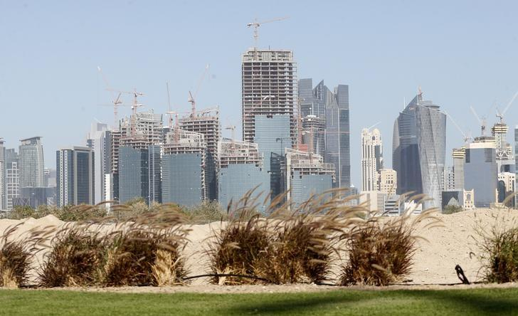 A view shows the Qatar Petroleum headquarters, which is under construction, in Doha February 21, 2013. REUTERS/Fadi Al-Assaad/Files