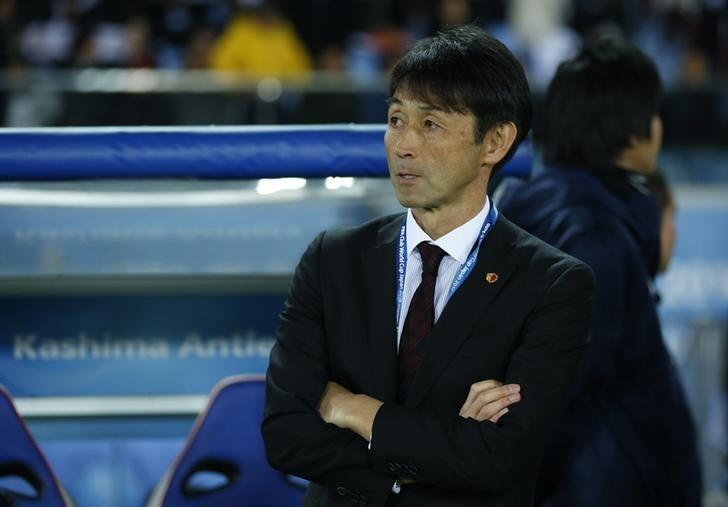 FILE PHOTO: Football Soccer - Real Madrid v Kashima Antlers - FIFA Club World Cup Final - International Stadium Yokohama - Japan , 18/12/16 Kashima Antlers coach Masatada Ishii Reuters / Toru Hanai Livepic