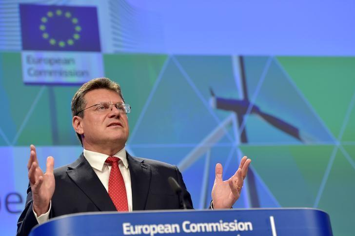 European Commission Vice-President Maros Sefcovic gestures during a news conference on Clean Energy package in Brussels, Belgium November 30, 2016. REUTERS/Eric Vidal