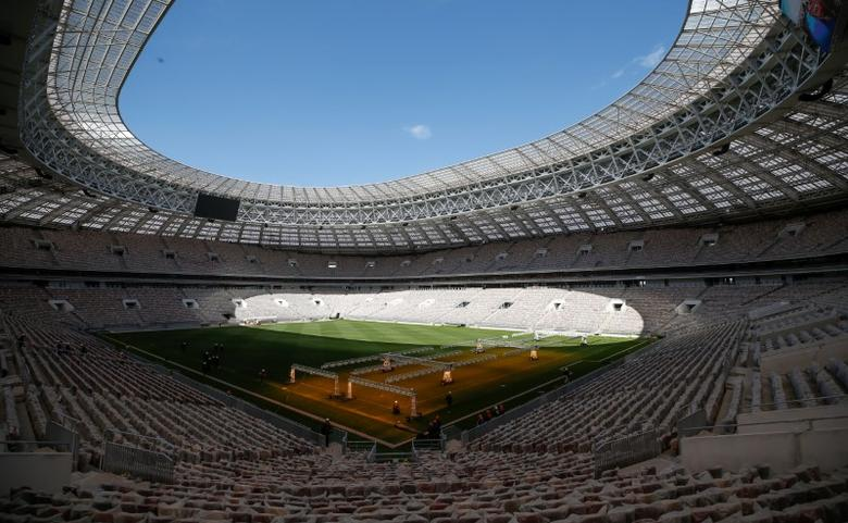 An interior view shows the Luzhniki Stadium, which will host 2018 FIFA World Cup matches, in Moscow, Russia May 6, 2017.  REUTERS/Maxim Shemetov