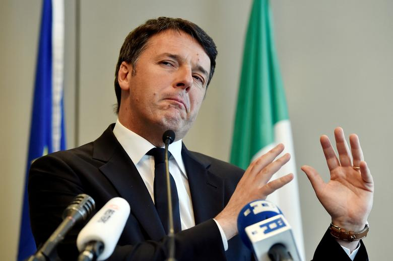 Italy's Former Prime Minister Matteo Renzi speaks during a news conference in Brussels, Belgium April 28, 2017. Reuters/Eric Vidal/Files