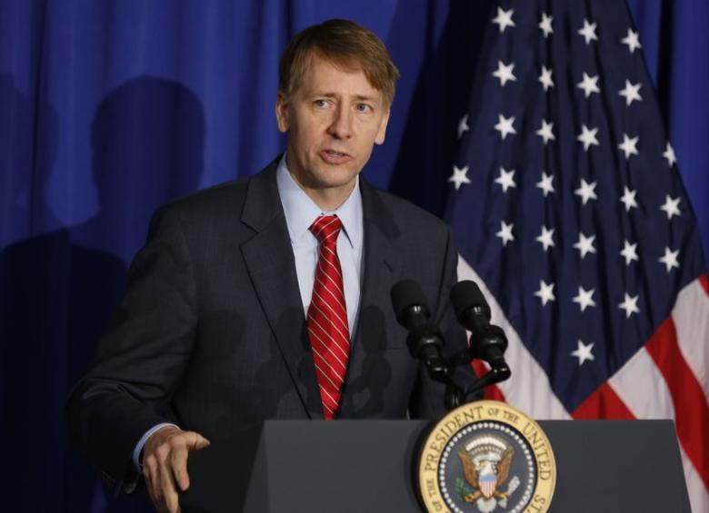 File photo: Consumer Financial Protection Bureau Director Richard Cordray speaks in Washington, October 17, 2014.   REUTERS/Larry Downing