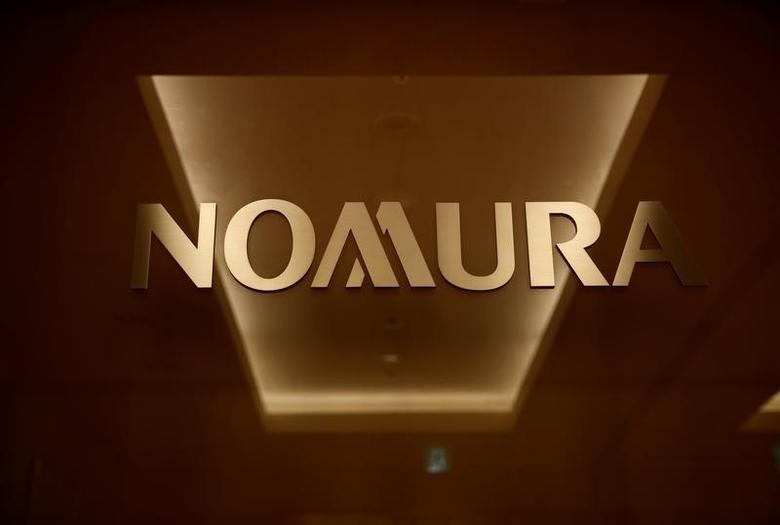 The logo of Nomura Securities is pictured at the company's Otemachi Head Office in Tokyo, Japan, November 18, 2016. Picture taken November 18, 2016.     REUTERS/Toru Hanai -