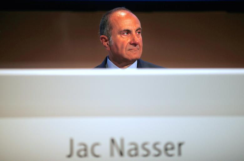 FILE PHOTO - BHP Chairman Jac Nasser sits before the company's Australian annual general meeting in Sydney November 29, 2012.   REUTERS/Tim Wimborne/File Photo