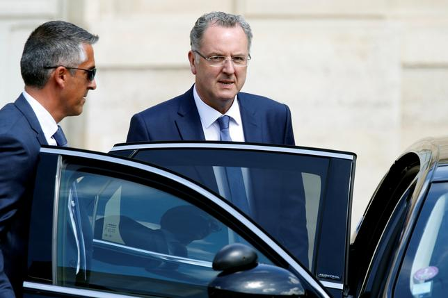 French Territorial Cohesion Minister Richard Ferrand leaves the Elysee Palace after a weekly cabinet meeting in Paris, France, May 31, 2017. REUTERS/Charles Platiau