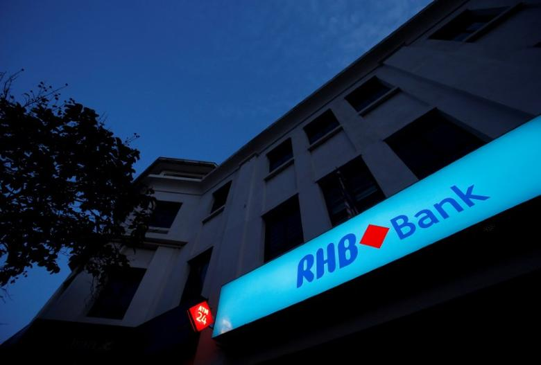 FILE PHOTO: Malaysia's RHB Bank logo is seen at its branch in Kuala Lumpur September 4, 2013. REUTERS/Bazuki Muhammad/File Photo