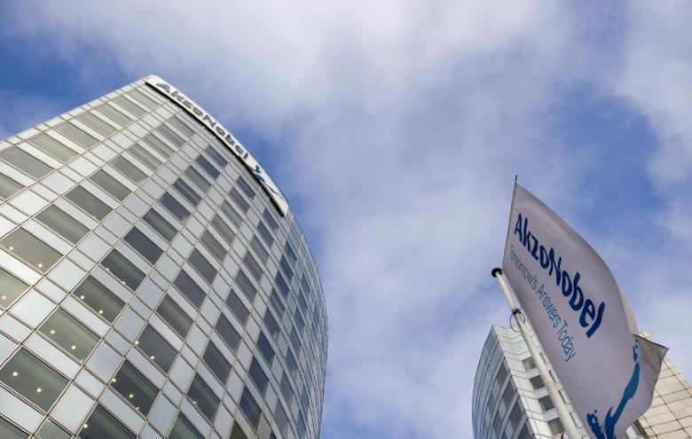 A view of AkzoNobel's headquarters in Amsterdam, February 16, 2012. REUTERS/Robin van Lonkhuijsen/United Photos