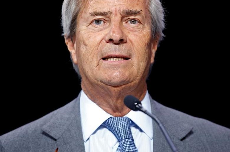 FILE PHOTO: Vincent Bollore, Chairman of media group Vivendi attends the company's shareholders meeting in Paris, France, April 25, 2017.  REUTERS/Jean-Paul Pelissier