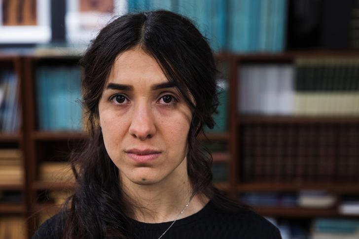 Yazidi survivor Nadia Murad poses for a portrait at United Nations headquarters in New York, U.S., March 9, 2017. REUTERS/Lucas Jackson
