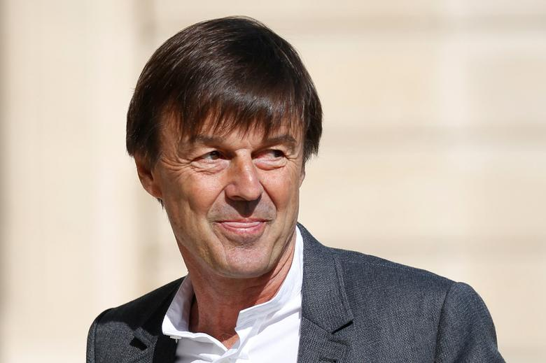 FILE PHOTO: French Minister of Ecological and Social Transition Nicolas Hulot arrives at the Elysee Palace before a weekly cabinet meeting in Paris, France, May 31, 2017. REUTERS/Charles Platiau