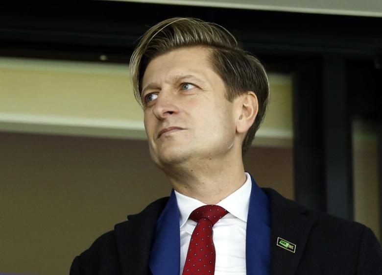 Britain Soccer Football - West Bromwich Albion v Crystal Palace - Premier League - The Hawthorns - 4/3/17 Crystal Palace chairman Steve Parish in the stands Action Images via Reuters / Andrew Boyers Livepic