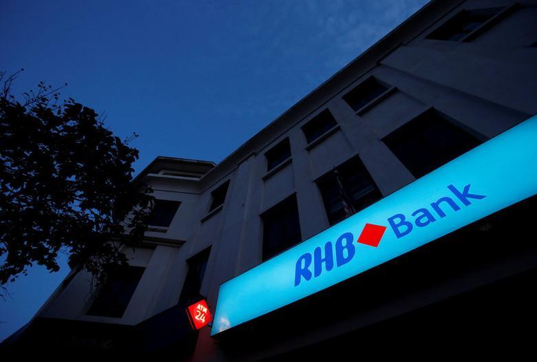 FILE PHOTO: Malaysia's RHB Bank logo is seen at its branch in Kuala Lumpur September 4, 2013. REUTERS/Bazuki Muhammad/File Photo
