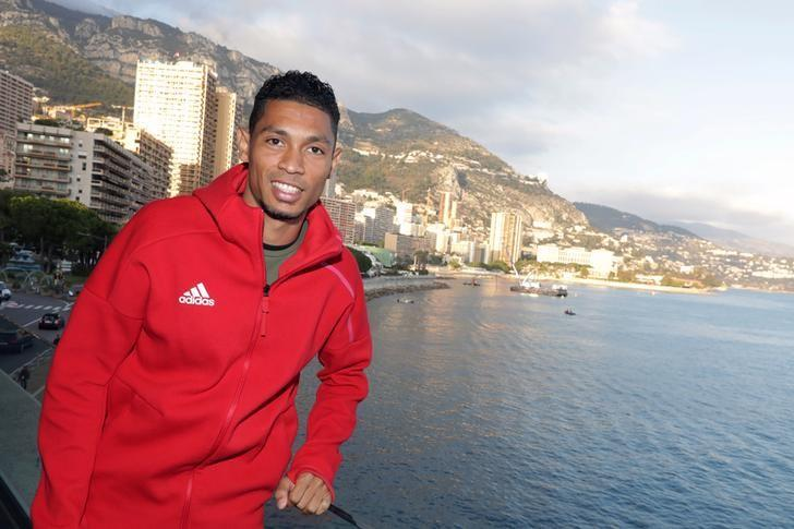 Wayde Van Niekerk of South Africa poses after a press conference for the 2016 IAAF Athletics Awards in Monaco, December 2, 2016. REUTERS/Eric Gaillard/Files