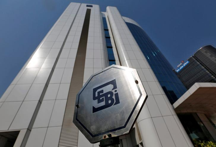 The logo of the Securities and Exchange Board of India (SEBI) is pictured on the premises of its headquarters in Mumbai, India March 1, 2017. REUTERS/Shailesh Andrade/Files