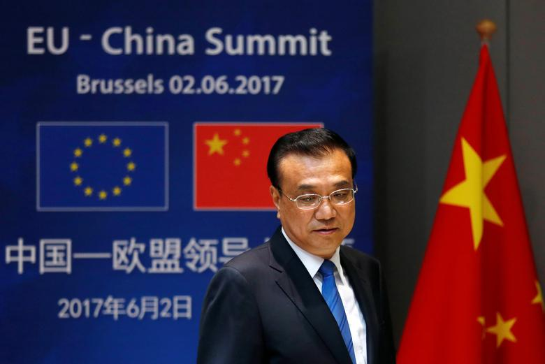 Chinese Premier Li Keqiang arrives to attend the EU-China Summit in Brussels, Belgium June 2, 2017. REUTERS/Francois Lenoir