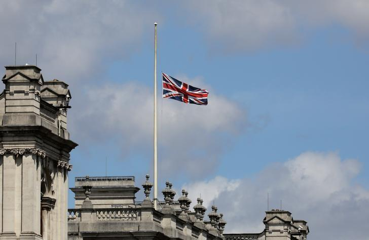 A union flag is flown at half mast in Westminster after an attack on London Bridge and Borough Market left 7 people dead and dozens injured in London, Britain, June 4, 2017. REUTERS/Kevin Coombs
