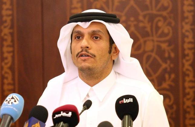 6月5日、カタールは、サウジアラビアを含む4カ国がカタールとの外交関係を断ち切ったことについて、遺憾の意を表明した。カタールを拠点とする衛星テレビ局アルジャジーラが伝えた。写真はカタール国外務大臣。ドーハで5月撮影(2017年 ロイター/Naseem  Mohammed Bny Huthil)